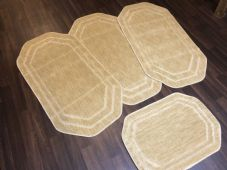 ROMANY WASHABLES NEW GYPSY SET OF 4PCS LIGHT BEIGE MATS NON SLIP TOURER SIZE